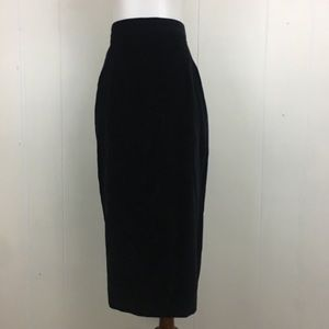 Vintage Kashima Kosaki Tokyo Velvet Pencil Skirt
